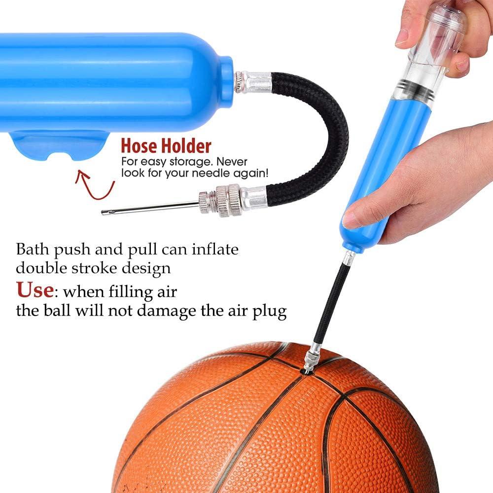 voleibol globo pelota de rugby bicicletas juego de adaptadores de bomba de aire para f/útbol balonmano baloncesto iToobe juego de bomba de bola con 8 agujas y 2 adaptadores de boquilla de repuesto inflables de nataci/ón y otras bolas