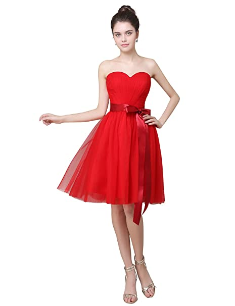 2605271f866f Adasbridal-Precioso A-linea vestido de dama de honor de tul de ...