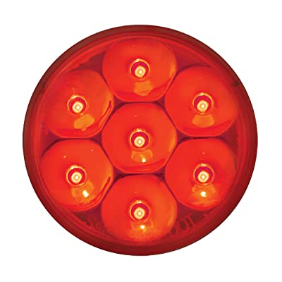 "GG Grand General 76547 Red/Red Light (2"" Low Profile Pearl 7 LED Dual/3Wires): Automotive"