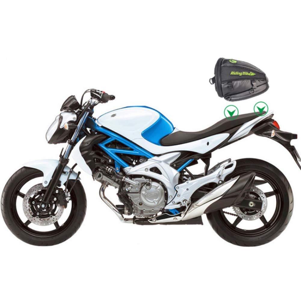 Greyghost Bolsa de cola para motocicleta Bolsa de asiento trasero de moto Bolsa de silla de montar Paquete de asiento trasero Moto hecho a medida Bolsa de viaje de silla de montar en moto