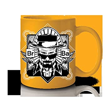 AMC Breaking Bad Yellow Heisenberg Coffee Mug by JUST FUNKY: Amazon.es: Juguetes y juegos