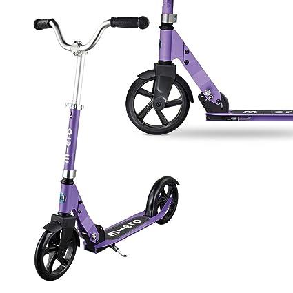 Micro Cruiser - Scooter Urbano, +6 años, Carga máx: 100kg, Ruedas 200m Poliuretano, Peso 4,5kg (Lila)
