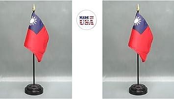 "Wholesale Lot of 6 Grenada 4/""x6/"" Desk Table Stick Flag"
