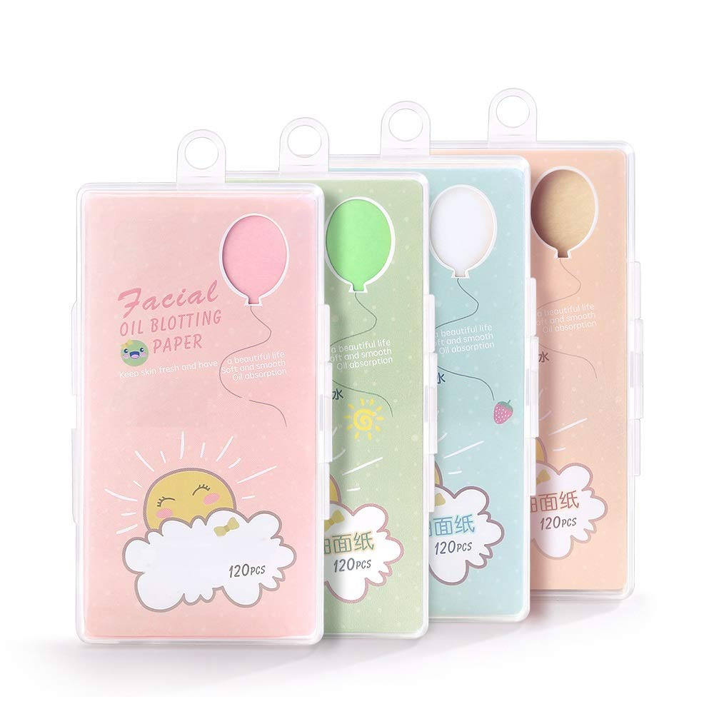 happy- little -bear Lovely Soft Face Oil Absorbing Paper Sheets Makeup Blotting Papers Oil Absorbing Tissues (Color : Orange)