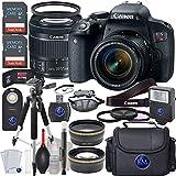 Canon EOS Rebel T7i EF-S 18-55 IS STM Kit + 2X32GB Card + Advanced Lens Bundle