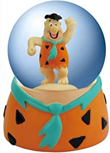 45mm The Flintstones Fred Standing with Hand up Orange Water Globe