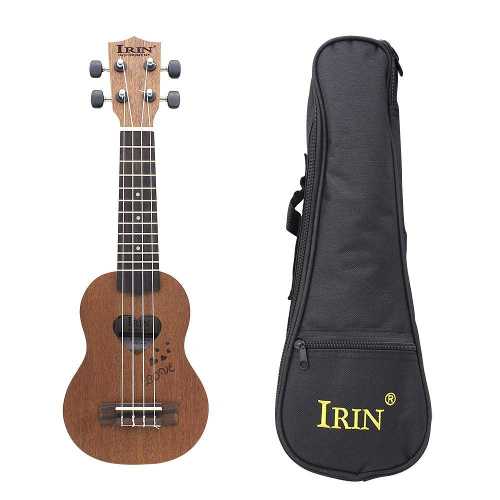 17 Inch 12 Frets Sapele Spruce, Ukulele Guitar 4 Strings Hawaiian Guitar Musical Instruments with Bag for Beginners Gift