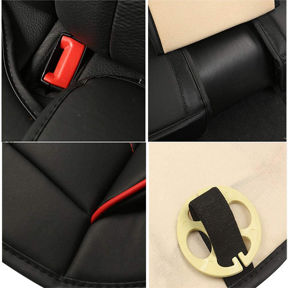 AUTO HIGH Car Seat Cushion Universal Front Car Seat Cover Protector PU Leather Pad Mat for Auto Supplies Office Chair 2PCS Gray