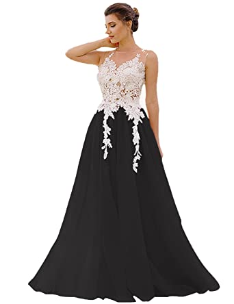 ecdadd72a2 Fashion 2018 Long A Line Applique Prom Dress Tulle Pearl Sleeveless Women  Evening Party Gown SHPM16