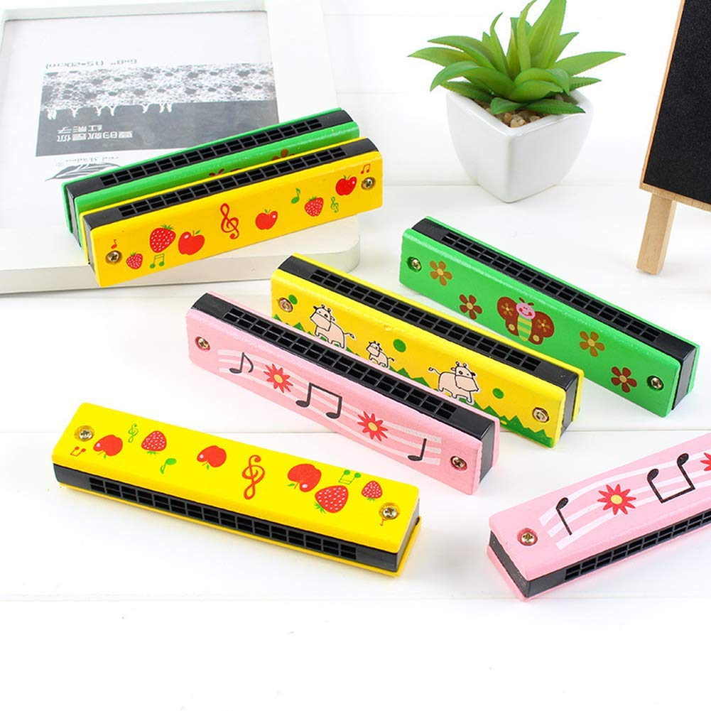 Children's melodica 16-hole double-row cartoon toy harmonica