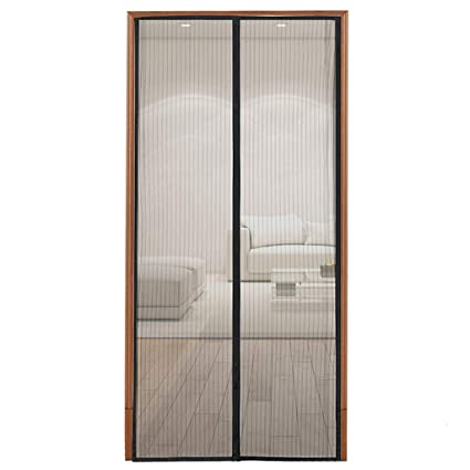 Magnetic Screen Door with Heavy Duty Mesh and Full Frame Velcro-Keep ...