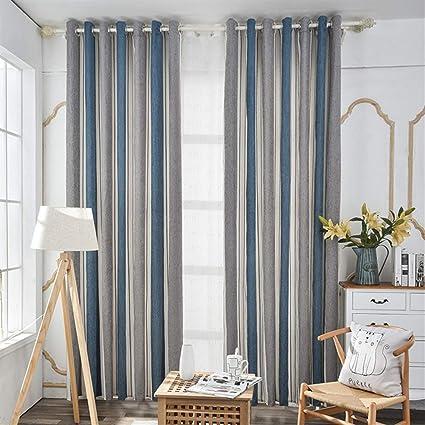 Ommda Gardinen Vorhang Wohnzimmer Streifen Modern Dekorative ...