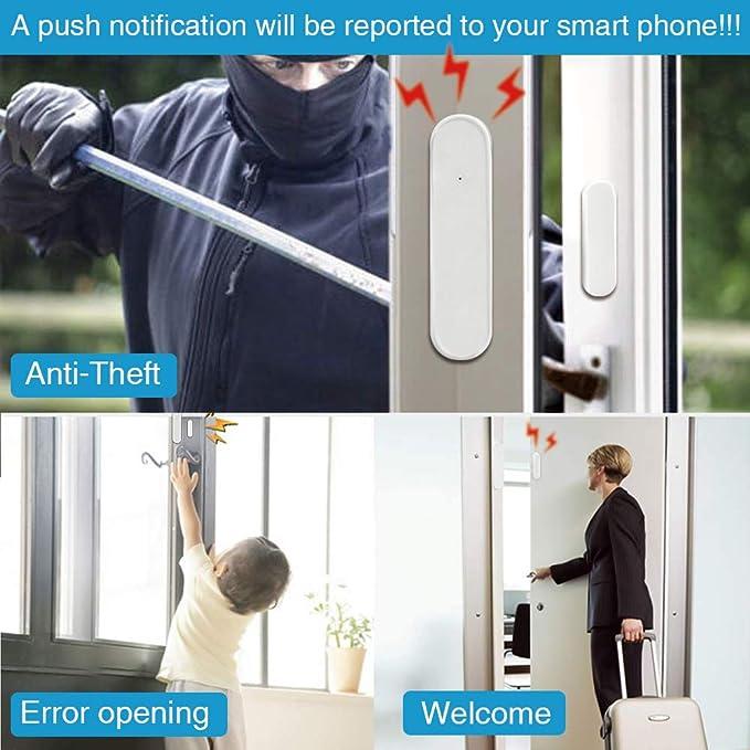 Wi-Fi sensor de puerta/ventana alertas APP sensor de seguridad ...