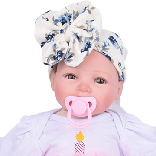 Anboo Flower Baby Infant Kids Girls Bowknot Hairband Turban Bowknot Headwrap  Hairband (Blue) 64a1f1e1cf70