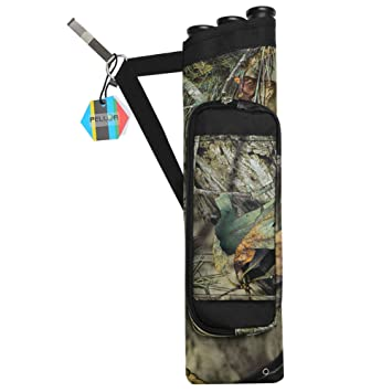 Pellor - caza carcaj ajustable Cintura Hanging tiro con arco flechas caso, camuflaje: Amazon.es: Deportes y aire libre
