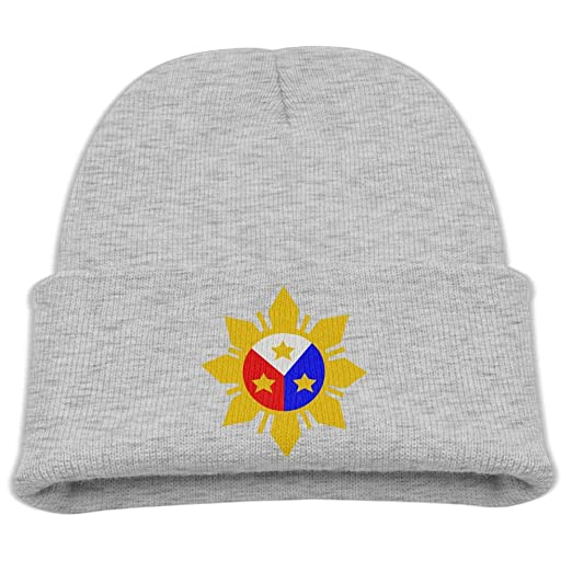 a44134e01bd BOY64BEANIE Filipino Philippine Flag Classic Boys Girls Cotton Stretchy Knit  Hats Kids Skull Beanies Hat Ash at Amazon Men s Clothing store