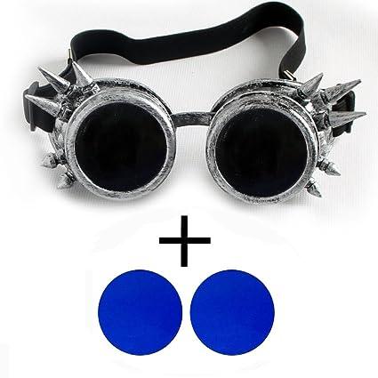 OMG _ tienda antiguo plata vintage Victorian Steampunk gafas gafas soldadura Cyber Punk gótico Cosplay,
