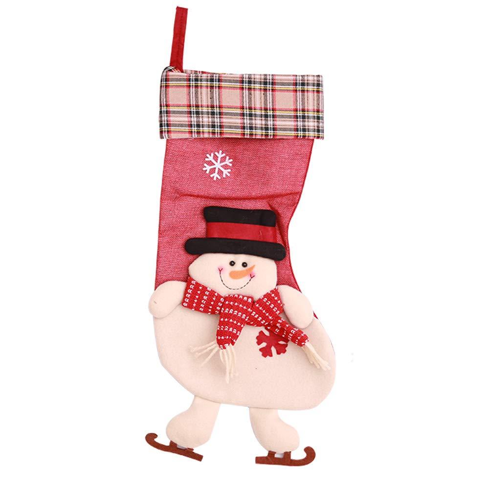 nanzhushangmao Christmas Stockings, Big Size Durable Xmas Stocking Kids Gifts, Christmas Hanging, Tree Ornament, Home Decor (B)