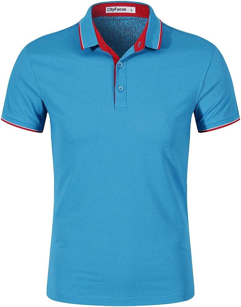 Camisas Polo para Hombre Cuello en Contraste de algodón Tenis ...