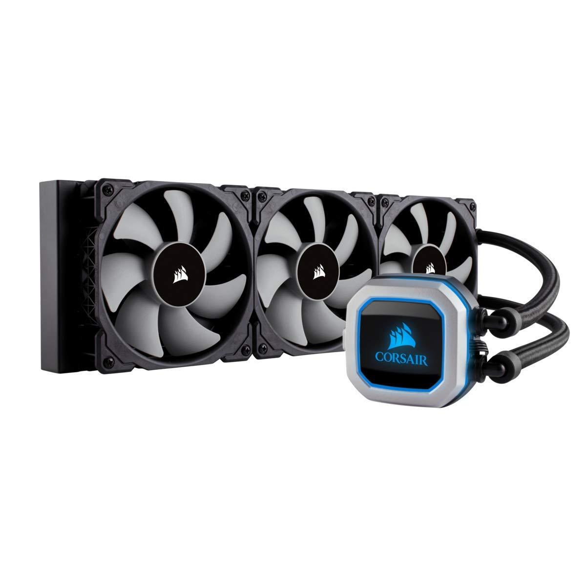 Corsair Hydro Series H150i PRO RGB AIO Liquid CPU Cooler,360mm,Triple ML120  PWM Fans, Intel 115x/2066, AMD AM4
