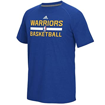 919130d5c1ec Golden State Warriors Men s Blue adidas On-Court Climalite T-shirt Small