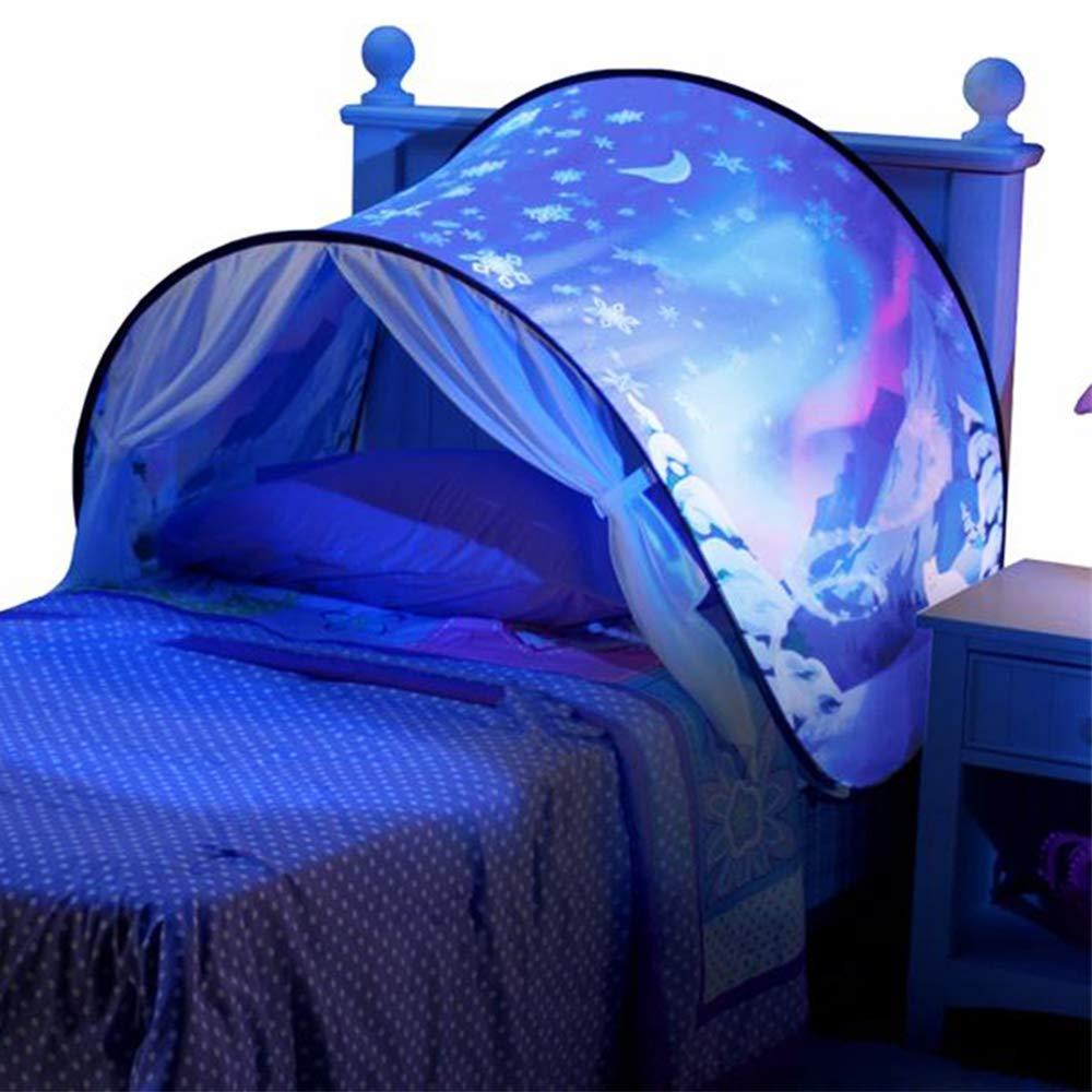 MIMINUO. Tienda de campaña infantil plegable Wonderland para la cama, camping y aire libre Winter Wonderland