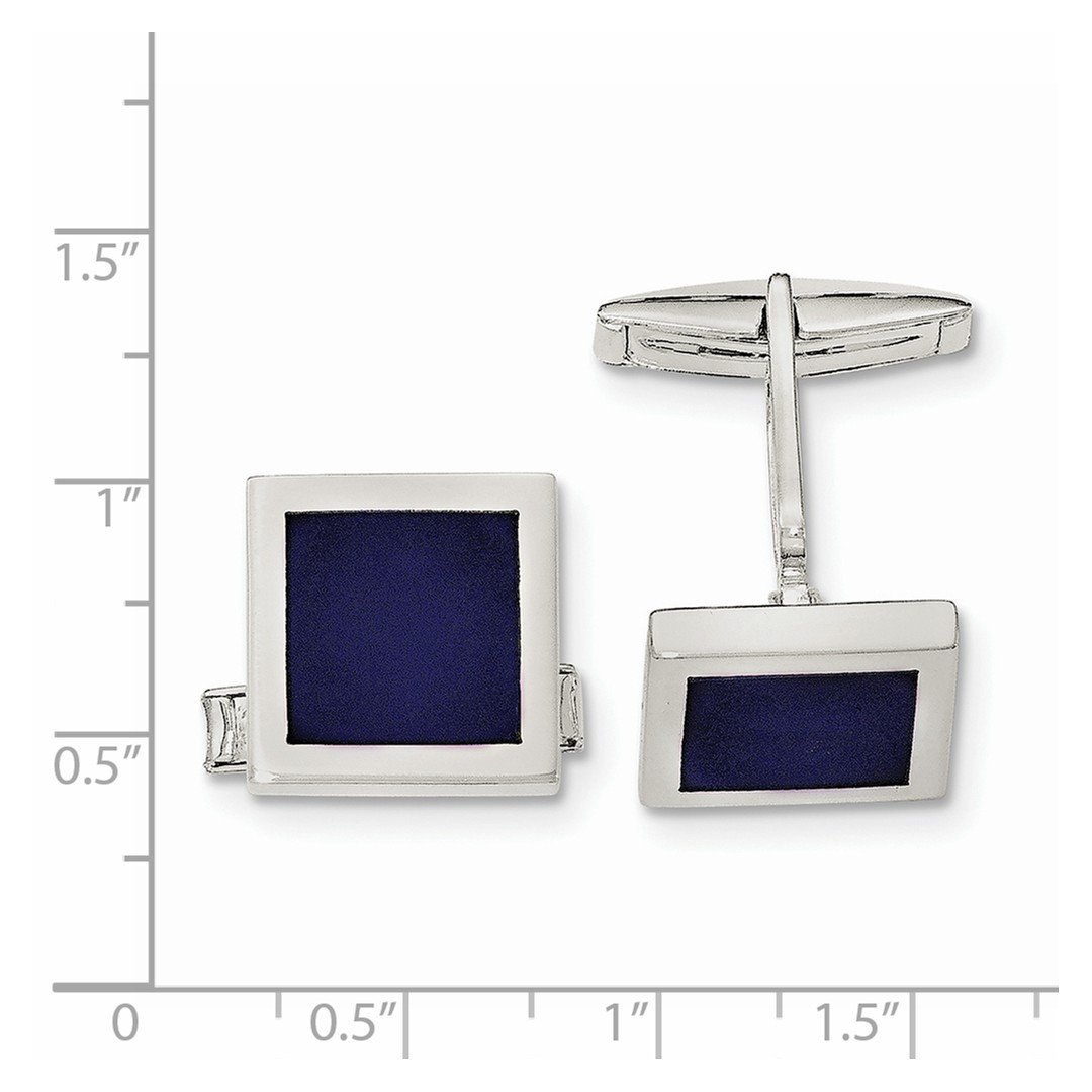 ICE CARATS 925 Sterling Silver Lapis Cuff Links Mens Cufflinks Link Fine Jewelry Dad Mens Gift Set by ICE CARATS (Image #2)