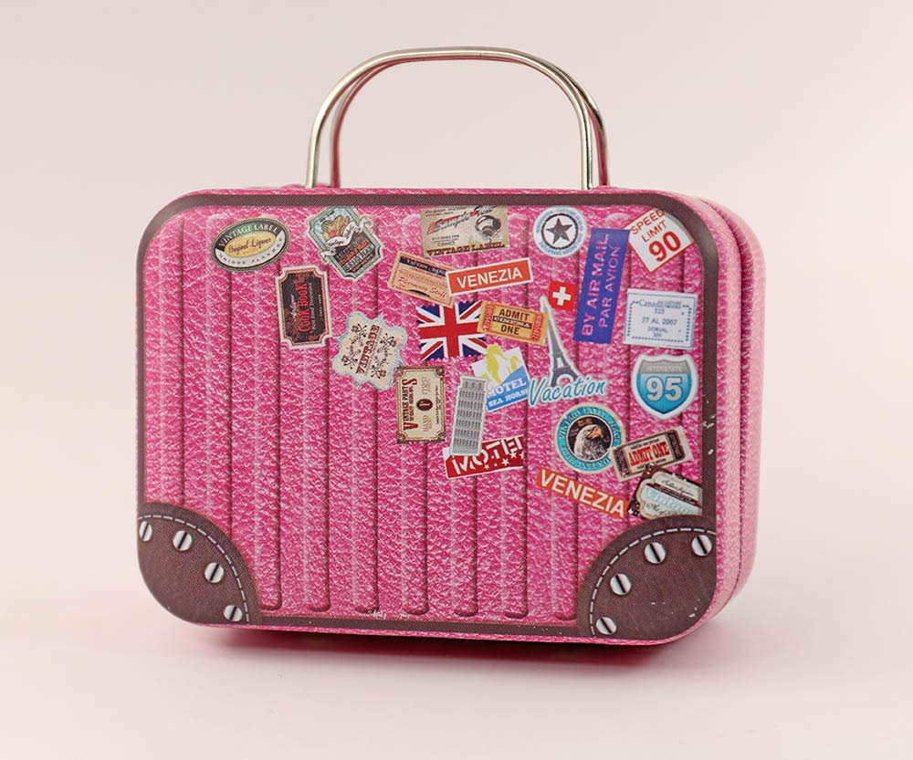 1/6 Barbie Blythe Size Red Doll Dollhouse Miniature Toy Trunk Box Suitcase Luggage Traveling Case my minidream