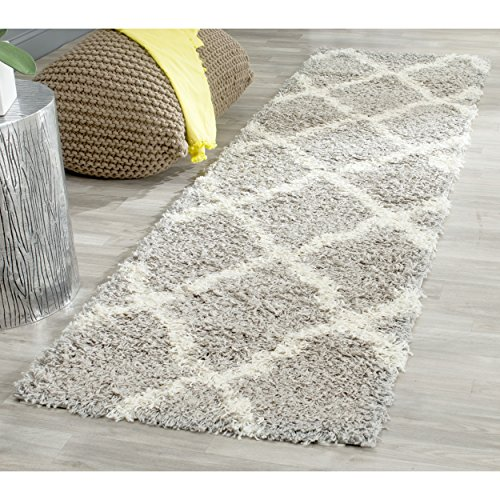 Safavieh Dallas Shag Collection SGD257G Grey and Ivory Runne