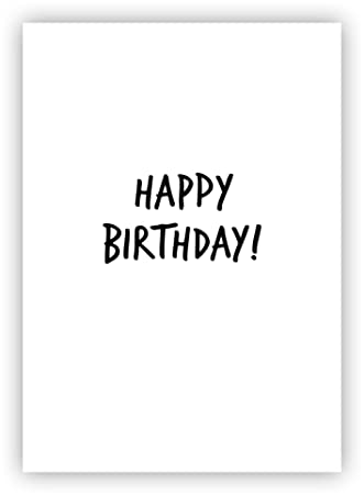 10 X Minimalist Happy Birthday Card Set Incl White Envelopes