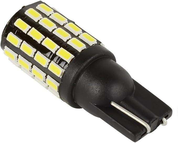 Safego 2x T10 W5w 24 Smd 4014 Led Ampoule 168 194 Feux Lumière Blanc Pour Voiture Lampes De Lecture De Plaques D Immatriculation Lumières Lampes Dc 12v 6000k 32mm Amazon Fr Auto Et Moto