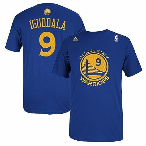 0278fe31b Golden State Warriors Andre Iguodala Adidas Gametime Blue T Shirt (XXL)