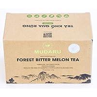 Mudaru Forest Bitter Melon Tea| Febrifuge, Detoxification, Hypoglycemia, Reduce the Risk of Diabetes Complication & Blood Fats| Herbal Tea| 25 Bags