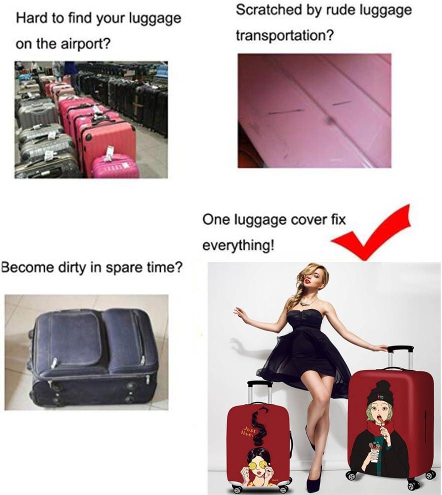 02BLUE, S YEKEYI Reise Suitcase Protector Rei/ßverschluss Koffer Abdeckung Waschbar Drucken Gep/äck Abdeckung 18-32 Zoll