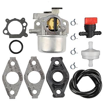 hilom carburador con filtro de combustible bujías para Briggs & Stratton 799871 799866 790845 796707 794304