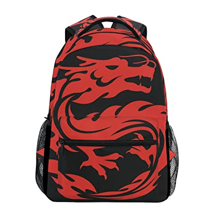 1641067219 BENNIGIRY Personalized Japanese Dragon Backpack Daypack Book Bag School Bags  for Boys Girls  Amazon.co.uk  Luggage
