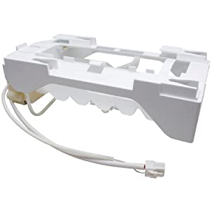 243297606 Refrigerator Ice Maker Replacement for Frigidaire, Electrolux, Whirlpool PS9495130 AP5809314, White