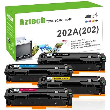 Aztech 4 Pack Repuesto para HP 203A CF540A CF541A CF542A ...