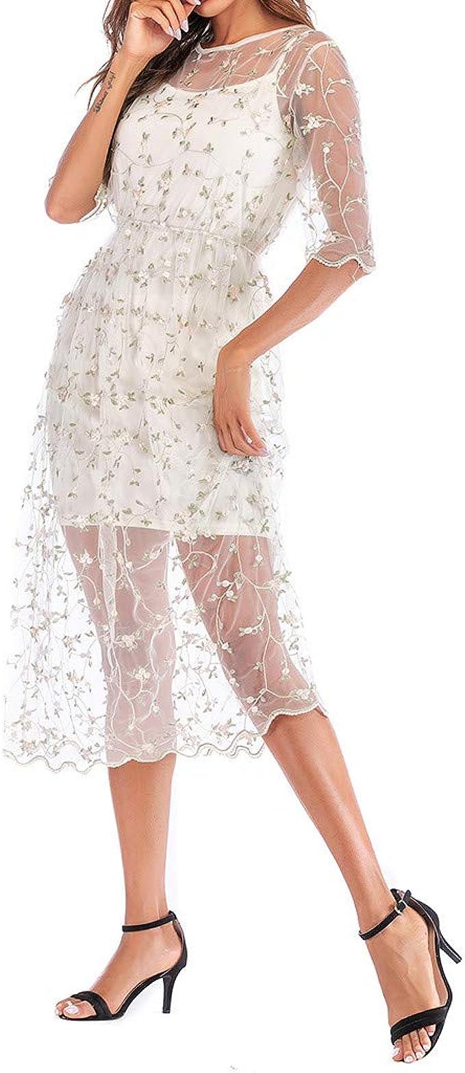 DressLksnf Vestido de Mujer Verano Estampado Floral Corto Falda ...