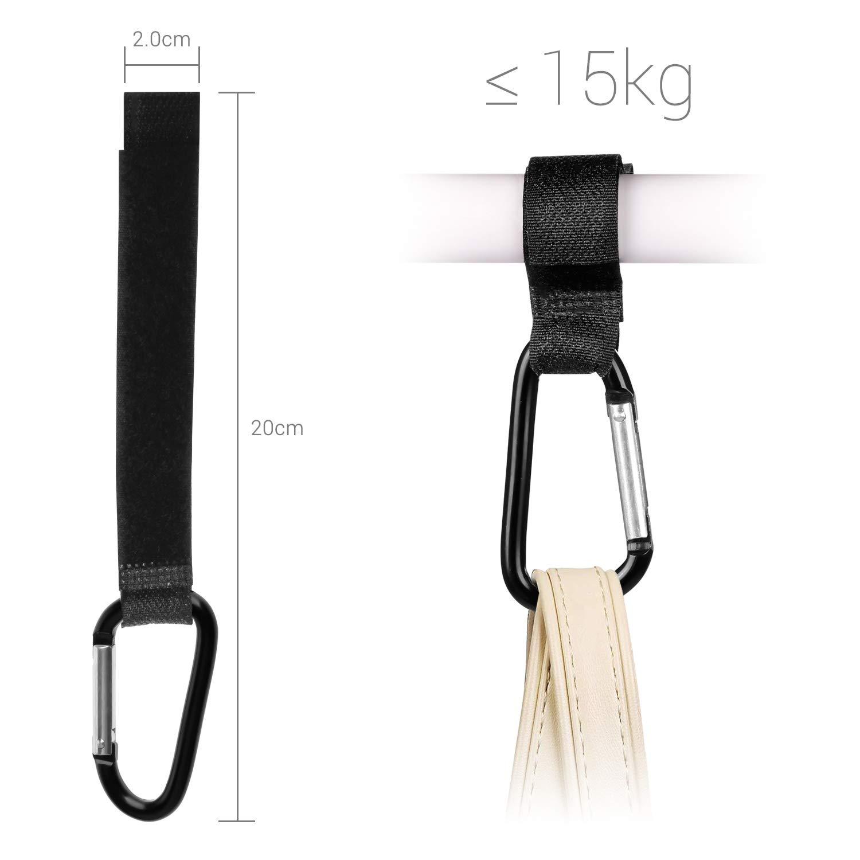 Pram Clips Stroller Hooks, Elegear 9 Pack Anti-Skid Plastic Pegs Clips for Pushchair/Blanket Cover Clips/Pram Seat Cover Clips/Stroller Canopy Clips/Toy Holder Clips (Black, Gray, Blue)