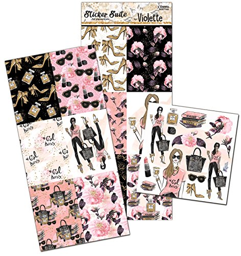 Violette Stickers Girl Boss Planner Suite - 3 sheets