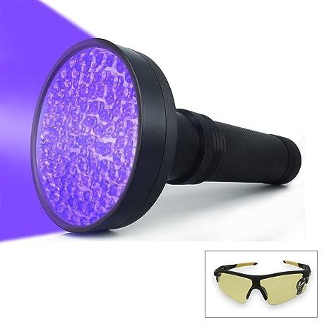 Professional 100 LED Black Light UV Flashlight 395 NM UV Detector for Pet Urine Detection Cat