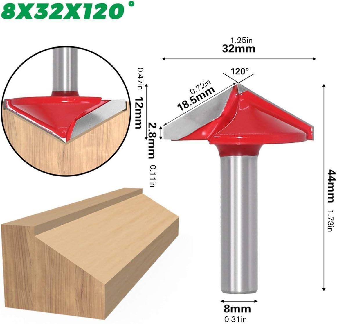 8Mm 3D V Gravurbohrer Cnc Fr/äser Fr/äser f/ür Holz Wolfram Holzbearbeitung 60//90//120//150 Grad Fr/äser