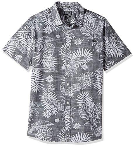 O'Neill Men's Tradewinds Short Sleeve Shirt, Black, Small