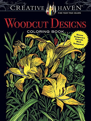 Butterfly Art Trio (Creative Haven Woodcut Designs Coloring Book: Diverse Designs on a Dramatic Black Background (Adult Coloring))