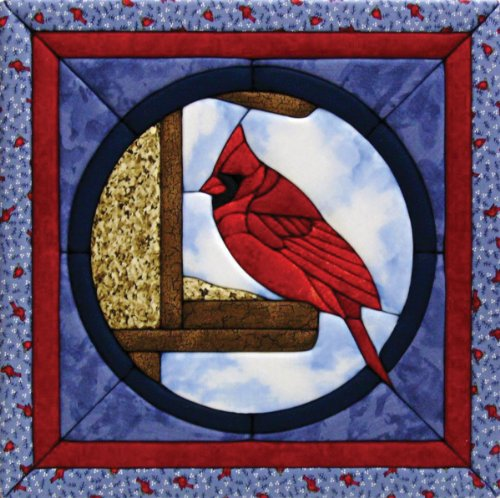 Quilt Magic 12-Inch by 12-Inch Cardinal Kit by Quilt Magic