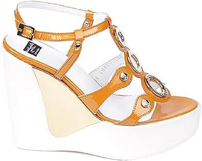 Suri Asesino Factibilidad  Roberto Botticelli - Sandalias de vestir para mujer Naranja naranja:  Amazon.es: Zapatos y complementos