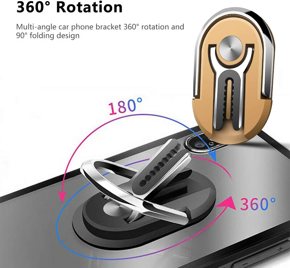 HIPIBEST Multipurpose Mobile Phone Bracket Holder Phone Ring Holder Finger Kickstand Stand 360 Degree Rotation for Car Home Magnetic Car Mount with All Smartphone for Car 3 Pack Multi-Color 4 Pack