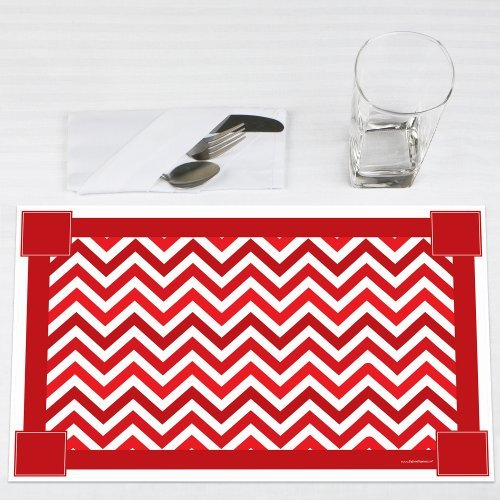 Chevron-Red-Party-Placemats-Set-of-12