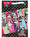 "Freaky Fab Monster High Plastic Birthday Party Favour Loot Bags (1 Piece), Multi Color, 6 1/2"" x 9""."